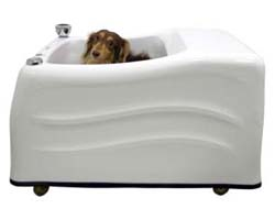 Top small dog magneted microbubble bath